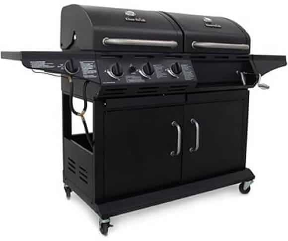 Char-Broil Deluxe Gas and Charcoal Combo Grill, 1010 3-Burner