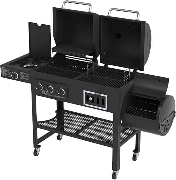 Smoke Hollow 3500 4-in-1 Combination 3-Burner Gas Grill