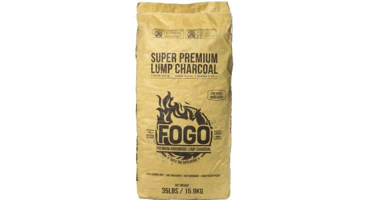 Fogo Super Premium Oak Restaurant All-Natural Smoked Hardwood Large Lump Charcoal